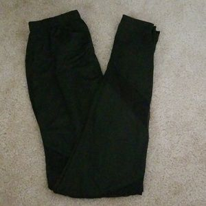 Black stretchy workout pants